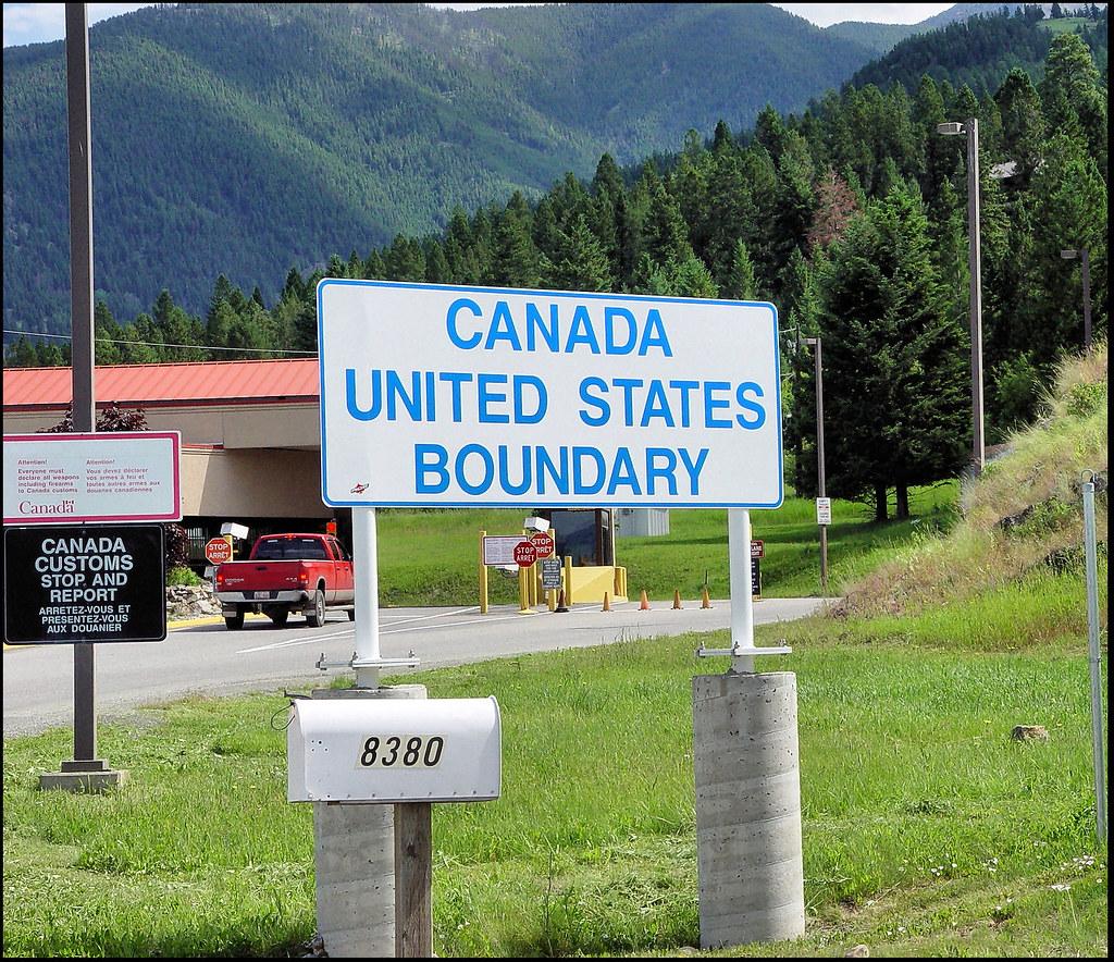 18324 Montana Canada Border Sign