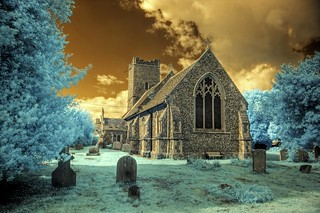 Infrared HDR All Saints church Rede Suffolk | by Brokentaco