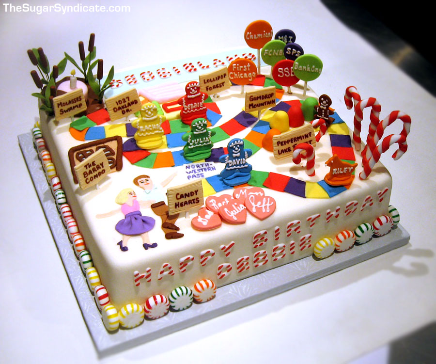 Wondrous Candyland Birthday Cake A Photo On Flickriver Birthday Cards Printable Opercafe Filternl