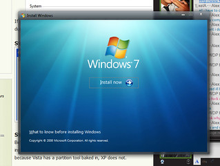 Installing Windows 7 | by Alex W McCabe