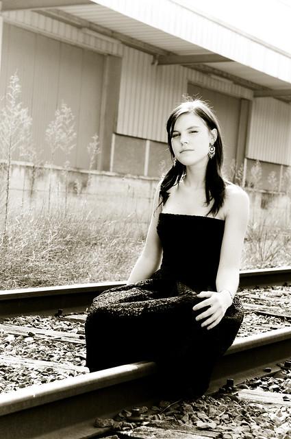 Sitting on rail