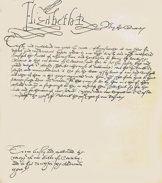 Resultado de imagen de elizabeth I Queen calligraphy