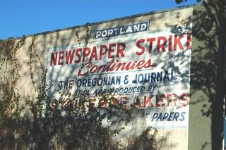 Newspaper strike continues. | by pirateyjoe