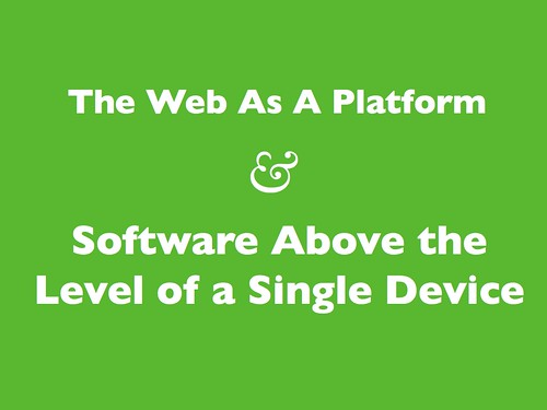 The Web as a Platform | by psd