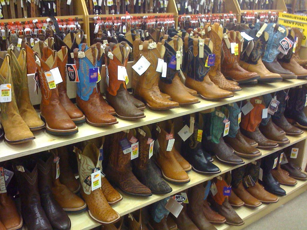 Lots of cowboy boots!