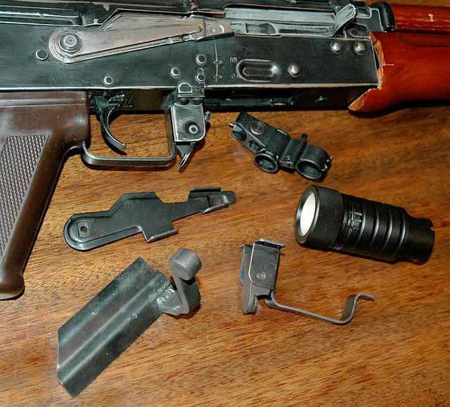 Airsoft AK tactical upgrade parts for Tactical AK74U | Flickr