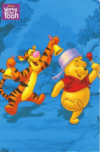 Winnie the Pooh & Tigger Postcard