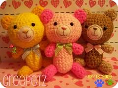teddy bears amigurumi | by CREEPETZ