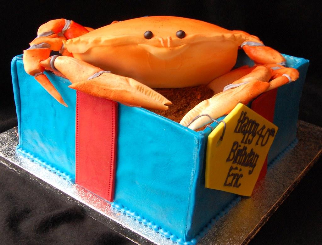 Prime Crab Cake Happy Birthday Eric 8 X 8 Inch Square Box And Flickr Funny Birthday Cards Online Necthendildamsfinfo
