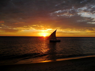 Zanzibar sunset and dhow | by missy & the universe