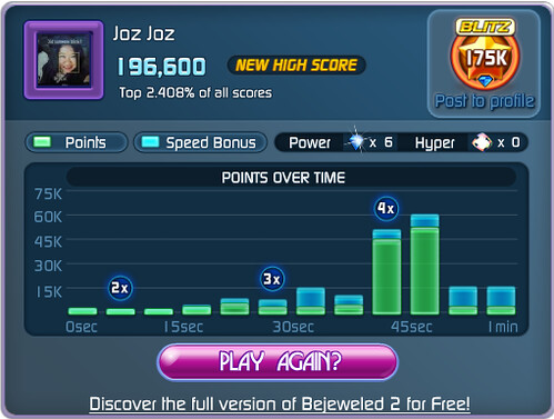That's it, I must now retire from Bejeweled Blitz!