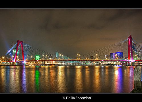 city longexposure bridge light people urban haven streets holland color water colors skyline architecture night reflections river puente photography lights noche photo rotterdam europe cityscape foto nightshot photos nacht harbour nederland thenetherlands wideangle ponte explore most le pont brug maas brücke ultrawide nuit 1022mm notte stad 1022 architectuur willemsbrug noch zuidholland brucke rivier rotjeknor southholland 50d nachtopname manhattanaandemaas canoneos50d canon50d dollia dollias sheombar