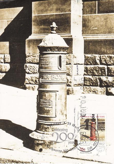 Australia Maxi 1890 Mailbox Postcard