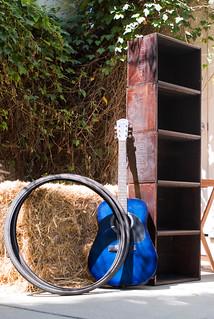 07059 Bikes, guitar, and bookshelf | by geekstinkbreath