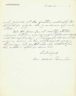 1920.05.31 - Brev fra billedhugger Wilhelm Rasmussen til borgermester Hans Bauck [side 3 av 3]