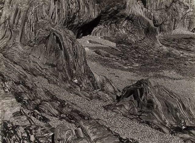 """Albert Renger-Patzsch""""Schieferkuste an der Bretagne (Slatestone Coast, BrittanyAlbert Renger-Patzsch)""""(1960)"""