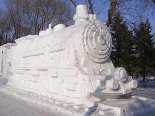 Snow steam train, Harbin International Ice and Snow Sculpture Festival | by Rincewind42