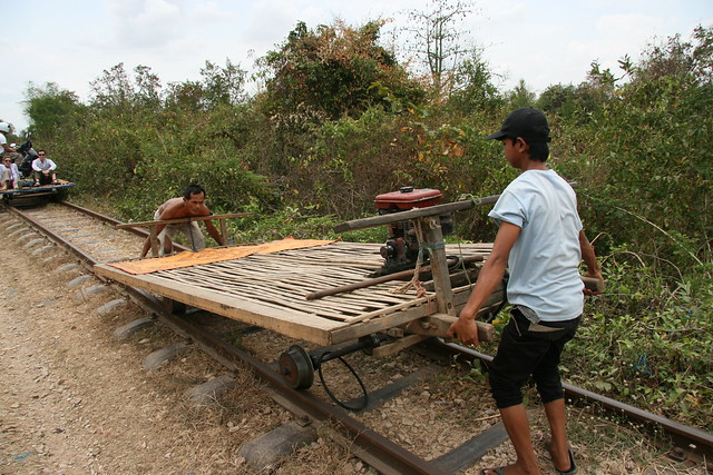 Disassembling the bamboo train