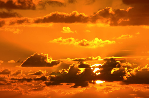 red orange usa sun sol sunrise canon rojo florida amanecer fortlauderdale nubes 2009 narnja miguelherrera canoneos40d