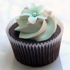 Ice Green Swirl Cupcake square format by Sugarbloom Bev