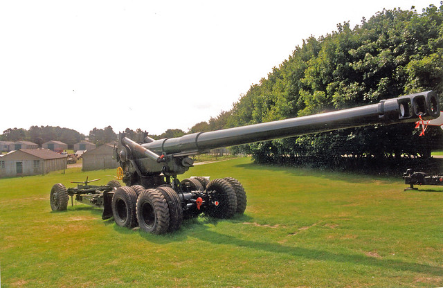 Gun 155mm   M59   M1  'Long Tom'   The Muckleburgh Military Collection Norfolk England