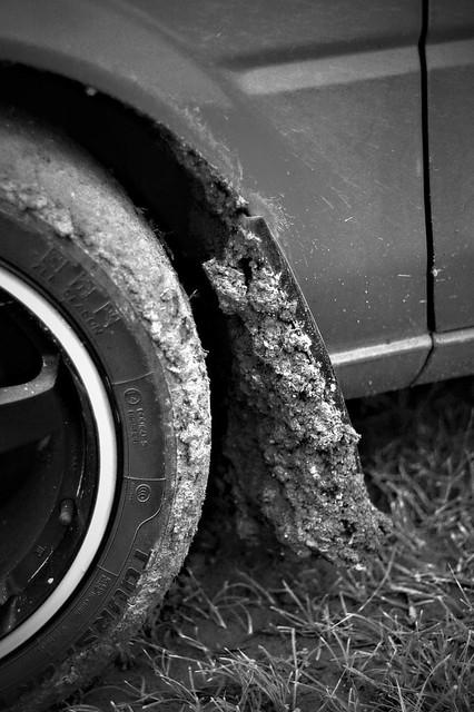 Clean and dirty b&w