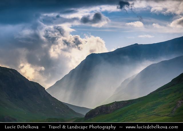 UK - Scotland - Western Highlands - Glen Etive under Divine Light