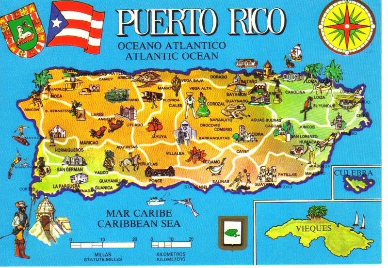 Puerto Rico map postcard   Erin   Flickr
