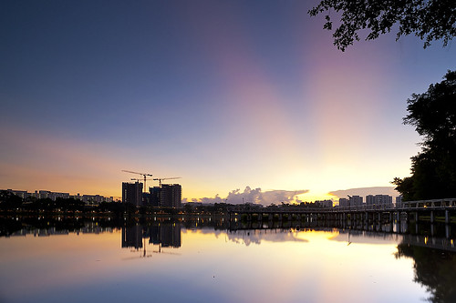 west reflection weather sunrise jurong