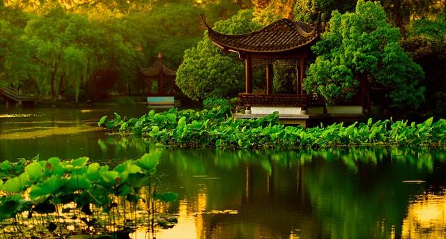 Sunset at Hangzhou-