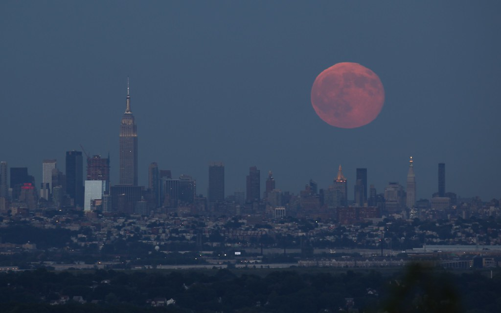 Blue Moon over New York City