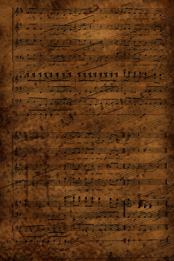 Rock n Roll Music Texture | Here is a texture I made from Ro