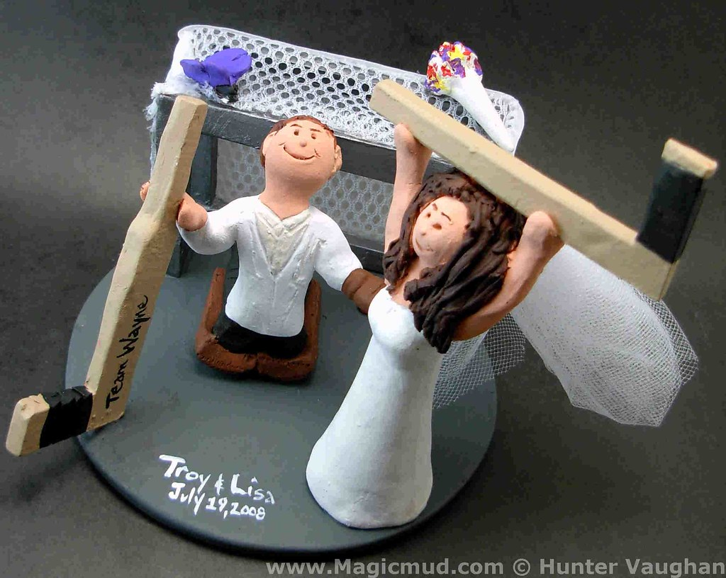 Hockey Bride Wedding Cake Topper Hockey Bride Wedding Cake Flickr