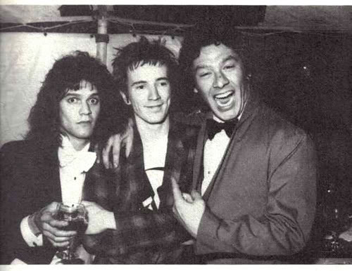 Eddie Van Halen Alex Van Halen And Johnny Rotten Guessing Flickr