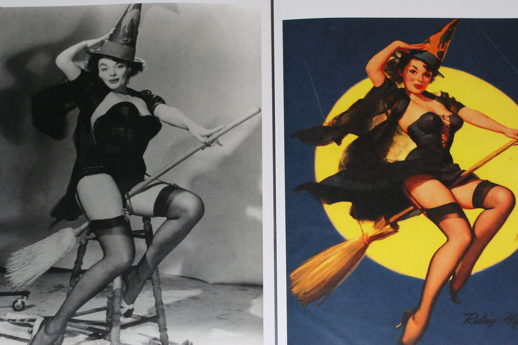 Halloween Pin Up Girl | At Left Is The Actual Model Posing F ...