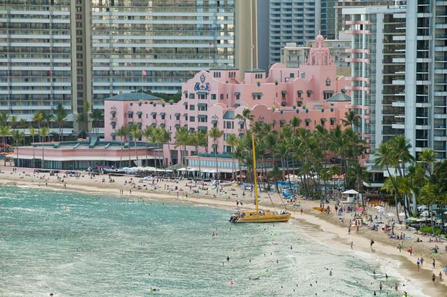 View Of The Royal Hawaiian From Waikiki Beach Marriott Res