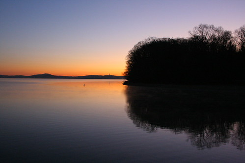 lake chattanooga sunrise tennessee chickamaugalake