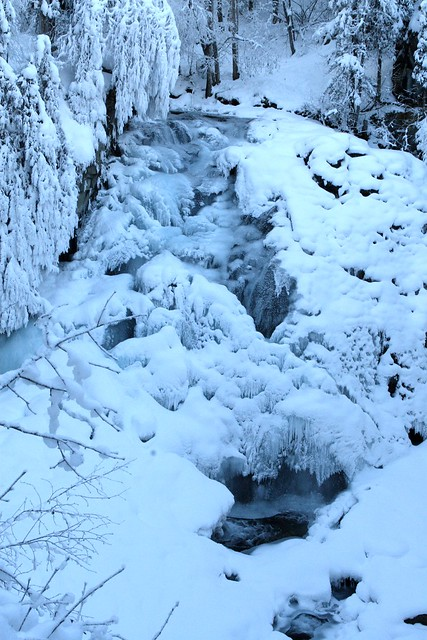 South Fork Falls on Eagle River - hard to tell but it is half frozen