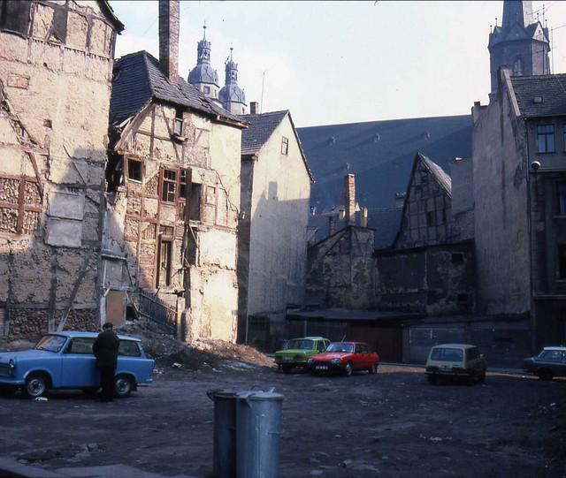 Grosse Klausstrasse and Graseweg, central Halle/Saale, March 1984