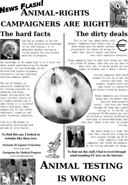 Animal Testing Is Wrong | A web version of a poster explaini… | Flickr