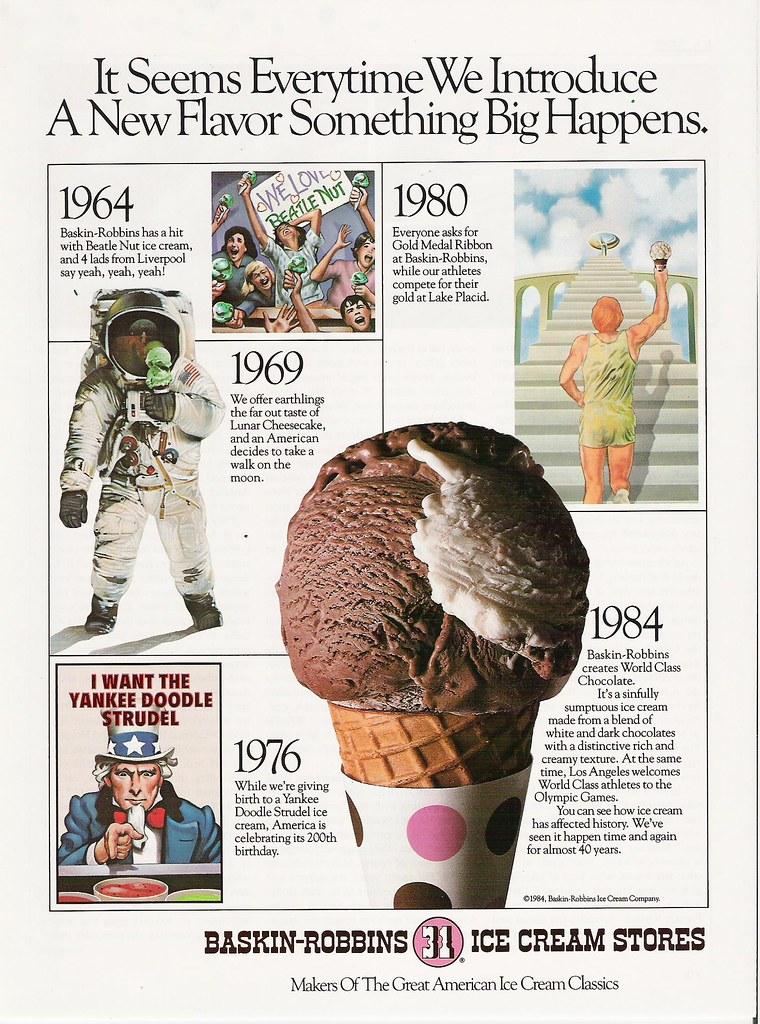 Baskin-Robbins 31 Flavors Ice Cream 1984 Olympics ad | Flickr