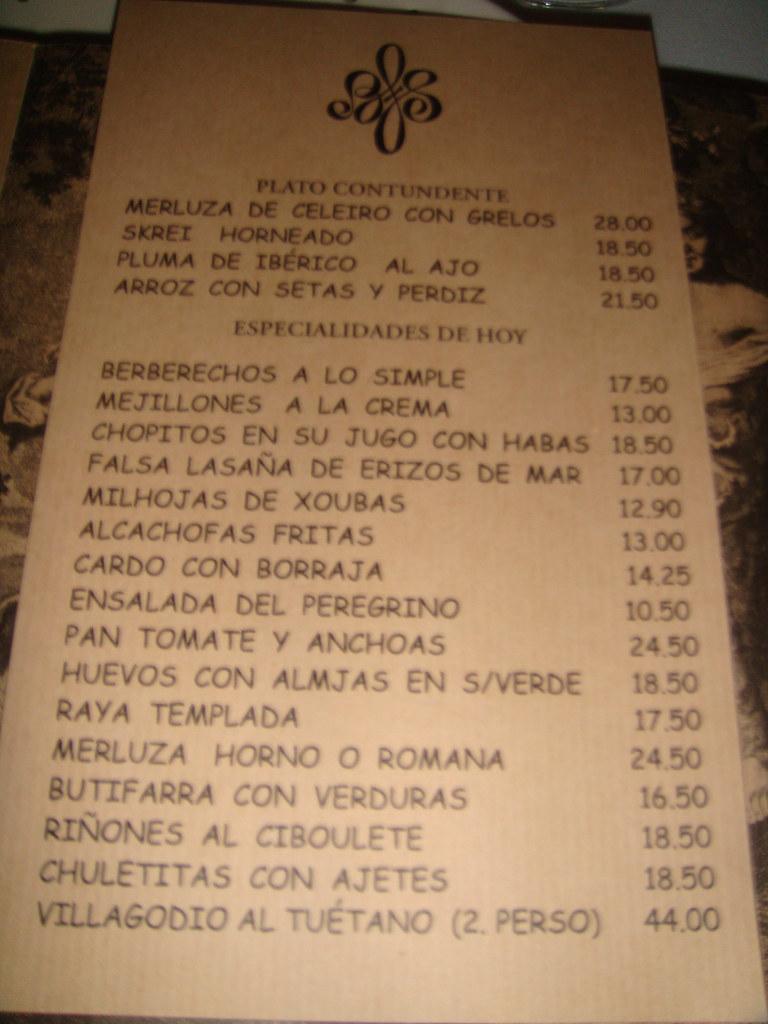 Restaurante Sacha Madrid Carta De Platos Pablo