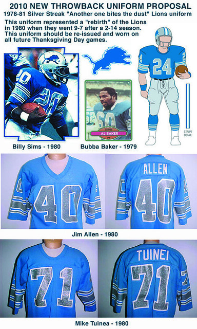 1980 Detroit Lions jerseys | Proposed 2010 Detroit Lions Tha