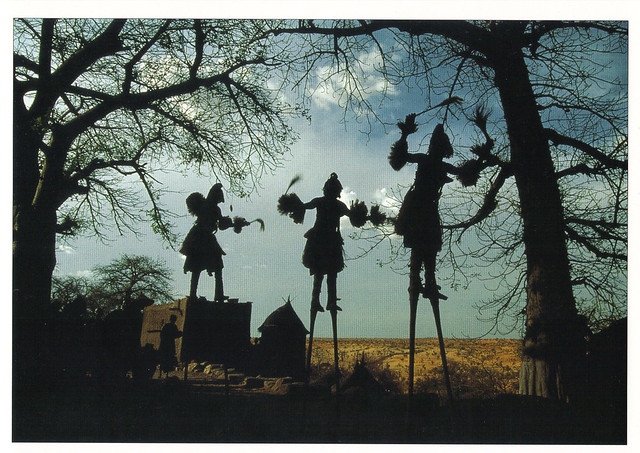 African Dogon Ceremony Postcard