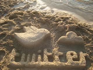 Twitter escultura de arena | by Rosaura Ochoa