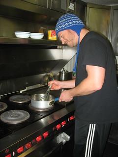 Keith stirring