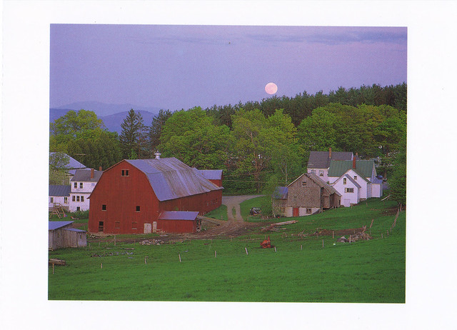 Vermont Barn & Farmhouse Postcard