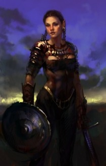 Female Fighter Fantasy Art
