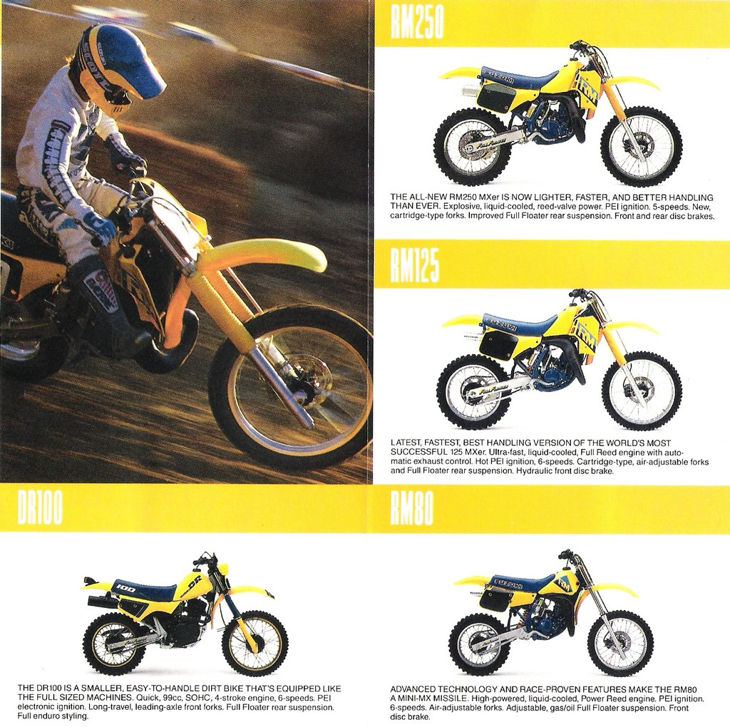 1987 Suzuki RM Motocross Bikes   Scan of the RM section of S…   Flickr