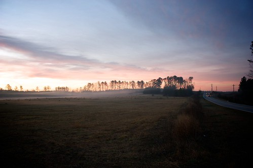 morning winter beautiful fog clouds sunrise georgia countryside cool foggy